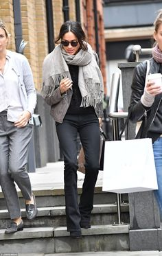 a98156a02f6b4 Meghan Markle has been spotted Christmas shopping in the capital after  landing in London on Monday