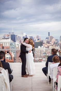 intimate NYC rooftop wedding Nyc Wedding Venues, Rooftop Wedding, Wedding Locations, Small Intimate Wedding, Civil Ceremony, Wedding Ceremony Decorations, Glamorous Wedding, Spring Wedding, Perfect Wedding