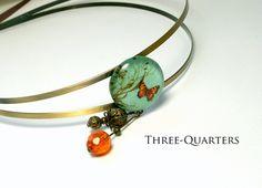 Haarreifen - Haarreif mit Schmetterling - ein Designerstück von three-quarters_diary bei DaWanda