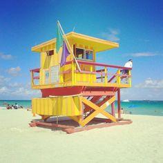 South Beach in Miami Beach, FL; Art Deco District, News Cafe, La Marea Restaurant; #Eastern
