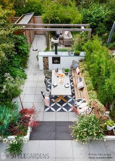 Back Garden Design, Backyard Garden Design, Rooftop Garden, Balcony Garden, Unique Gardens, Back Gardens, Small Gardens, Outdoor Gardens, Farm Layout
