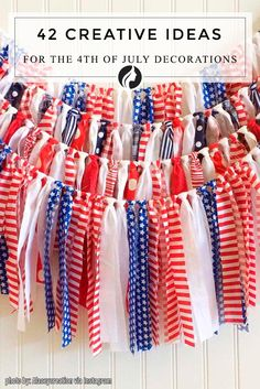 Independence Day is the perfect occasion to show how much you love your country, and 4th of July decorations will help you to do it. This article contains simple ideas how to decorate your house and your garden. This process will not take you much time and money, and your guests will be amazed at your creativity.