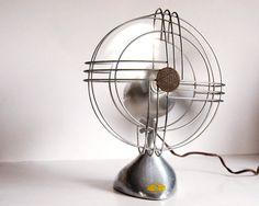 Vintage Fan Art Deco Zephyr Airkooler Chrome and Aluminum Desk Fan (1940s). @Deidra Brocké Wallace