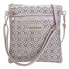 2016 Fashion Soft Women Crossbody Bag Hollow Out Shoulder Messenger Bags Flower Print Flap Single Handbags For Women