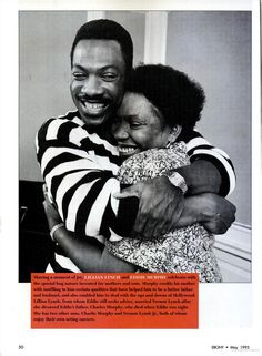 Eddie Murphy and his mother Lillian.