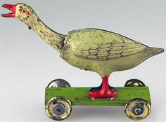 tin goose penny toy, Distler, Germany