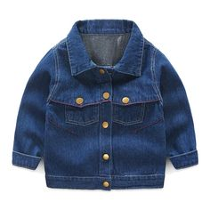 SPRMAG Kid Baby Boys Jeans Coat Lapel Button Down Denim Jackets Outerwears 4T Blue. Sleeve length:Long Sleeve Collar:Not removable hooded Material:Denim. Soft and comfortable to wear all day long.It's perfect for Spring and Autumn and Taking Photo or Daily Wear. Occasion:all-match,Great Gift for Thanksgiving Day,Easter,Halloween,Christmas,Party,Birhtday,Outdoor,Wedding,any occasion. Season: spring,fall,winter,best gift for baby little girls outwear. A nice gift to make your boy happy or...