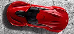 Ferrari CascoRosso Concept - Car Body Design