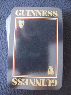 Playing Cards 1 Swap Card Old Vintage HARP LAGER BEER Brewery Advertising