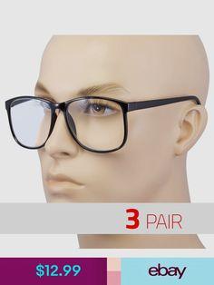 adac221e61fa 3 PAIR Large Oversized Glasses READING Clear Lens Nerd Glasses +2.50