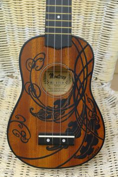 Ukulele Handpainted reserved for Katy