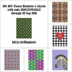 50% OFF Fleece Blankets at Zazzle through 29 Sep 2016 with code 2DAYZSNUGGLE. http://www.zazzle.com/clownfishcafe/fleece+blankets?rf=238083504576446517&tc=20160929_pint_DDSCC #homedecor #bedding #colorful #pattern #art #StudioDalio