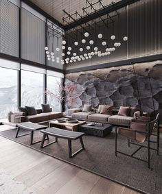 Home Interior Living Room .Home Interior Living Room Stone Feature Wall, Feature Walls, Bed Design, House Design, White Room Decor, Formal Dining Tables, Design Digital, Wood Cladding, Wooden Staircases