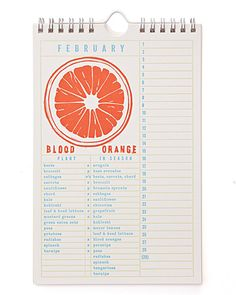 Produce Calendar - tells you what's in season each month of the year.  Love this!  Merry Christmas to me?