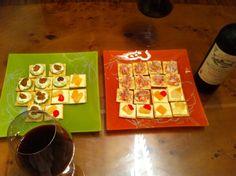 성게알, 맛살, 치즈과일 카나페