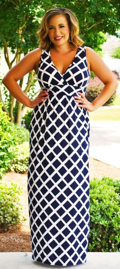 Perfectly Priscilla Boutique - X Marks The Spot Maxi  (Navy), $49.00 (http://www.perfectlypriscilla.com/x-marks-the-spot-maxi-navy/?page_context=category