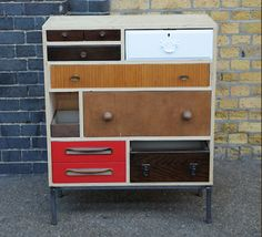 Rupert Blanchard recycled furniture love the use of different draws in the same cabinet