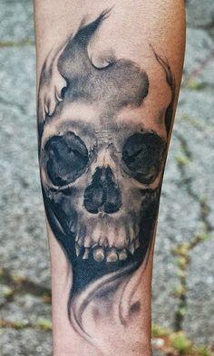 skull sleeve tattoos