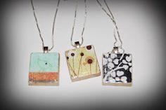 Trey and Lucy: scrabble pendants!  scrabble piece, paper, elmers glue, diamond glaze, bail, super glue for bail.