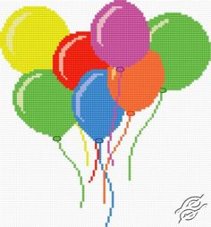 Toy-Balloons - Free Cross Stitch Pattern