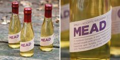 """If you're looking for a twist on the traditional wedding booze, go with mead! Also called """"honey wine,"""" this ancient alcoholic beverage is produced by fermenting honey and water, and it's where we get the term honeymoon. Another fun way to incorporate this Irish wedding tradition is by brewing it yourself and gifting it as favors (along with a note about the history)."""