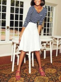 4dc43bc1512 NWT BODEN Solid White Linen ST IVES Embroidered Seams Flared Skirt L 12  #fashion #