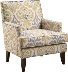 Aubinwood Yellow Accent Chair x x Find affordable Accent Chairs for your home that will complement the rest of your furniture. Yellow Accent Chairs, Small Accent Chairs, Accent Chairs For Living Room, White Chairs, Classic Living Room, Living Room White, White Rooms, Small Living, Living Rooms