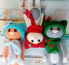 Crochet cats - free amigurumi pattern