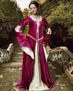 medieval gown is inspired by the court of The Middle Ages.