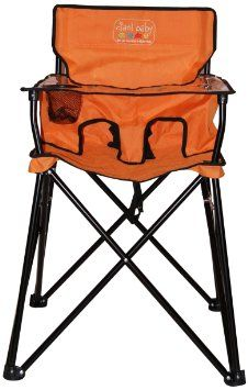 baby camping high chair pop up recliner chairs portable highchair folds into a carrying bag just like camp perfect for the park restaurants travel etc