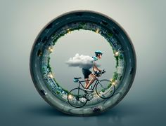 Top 10 digital art studios in the world. Ads Creative, Creative Posters, Creative Advertising, Advertising Design, Advertising Campaign, Nyc Subway, Plakat Design, Bicycle Art, Cycling Art