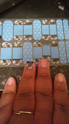 Made these in rememberance of my son in the Jamberry Nail Art Studio