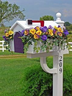 Mail Boxes with flowers