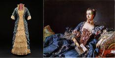 Платье, 1878-80 гг. / Ф. Буше. Портрет Маркизы де Помпадур. 1750-58 гг.