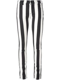 Off White - Gestreepte jeans