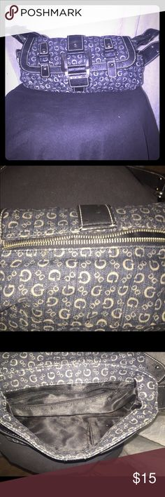 Small denim guess purse Cute little denim purse! Great condition ! Make an offer GUESS Bags Mini Bags