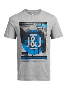 GRÁFICO T-Shirt, Light Grey Melange