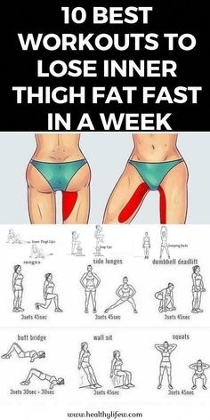 workout routine thighs Do you want to lose inner thigh fat at home fast in a week Simply these 10 best workouts to lose inner thigh fat in just a week Fitness Workouts, Fun Workouts, Yoga Fitness, At Home Workouts, Fitness Tips, Fitness Motivation, Health Fitness, Exercise Motivation, Physical Fitness