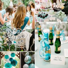 I'm in heaven today from this Chic Teal Bridal Shower Luncheon, all the details are a sweet dream come true!