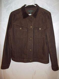 Lauren Jeans Co. Ralph Lauren LRL Denim Jacket Brown Corduroy Collar Size XL #ralphlauren #jacket #denim #outerwear #womens #fashion #womenswear #womensfashion  #onlinestore #onlineshopping #ebay #ebaystore