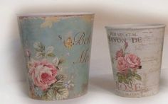 Decoupage Garden Blog Romantic Shabby Chic, Shabby Chic Decor, Tin Can Crafts, Arts And Crafts, Fork Art, Chabby Chic, Background Vintage, Shabby Vintage, Collage