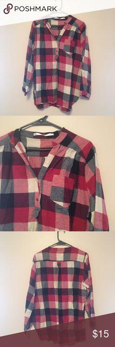 Plaid Tunic Plaid Tunic Blouse. Fits true to size. Wide width. ModCloth Tops Tunics