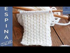 Spine stitch: A two-row repeat knitting pattern - So Woolly Easy Baby Knitting Patterns, Easy Knitting, Knitting Stitches, Knitting Needles, Knitting Scarves, Seed Stitch, Chain Stitch, Cross Stitch, Knitting Videos