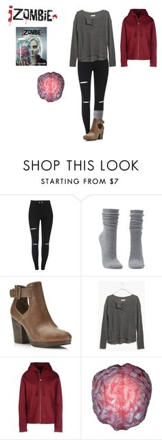 """IZombie Liv inspired outfit"" by musicalsammi ❤ liked on Polyvore featuring Charlotte Russe, Miss Selfridge, Madewell, Dimensione Danza, Buy Seasons, women's clothing, women, female, woman and misses"