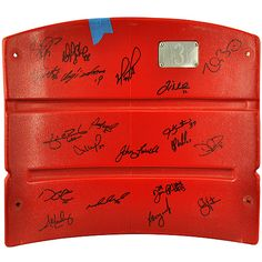 Mounted Memories 2013 World Series Champions Team Autographed Fenway Park Red Seatback with 20 Signatures - MLB.com Shop