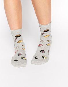 Calcetines con estampado de sushi de ASOS
