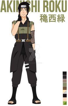 Roku Akinishi by chizohano on DeviantArt Naruto Games, Naruto Shippuden Anime, Naruto Uzumaki, Anime Naruto, Boruto, Neji And Tenten, Shikamaru, Gaara, Naruto Oc Characters