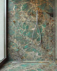 Greenery trend: green marbles and granites in interior design – Laperla marmi – Pins Luxury Homes Interior, Home Interior Design, Mediterranean Home Decor, Classic Home Decor, Bathroom Design Luxury, Home Decor Paintings, Home Decor Kitchen, Design Kitchen, Beautiful Bathrooms