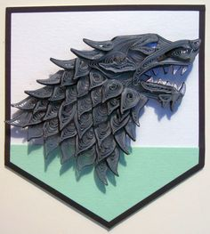 Game of Thrones Paper Quilling - Stark Sigil by wholedwarf.deviantart.com on @deviantART