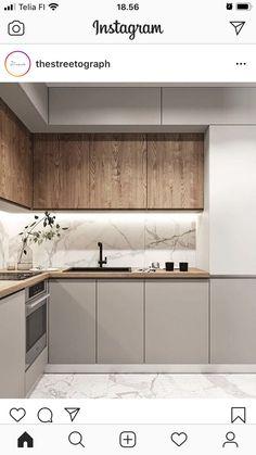 Condo Kitchen, Kitchen Room Design, Home Room Design, Kitchen Cabinet Design, Modern Kitchen Design, Kitchen Layout, Home Decor Kitchen, Interior Design Kitchen, Home Kitchens
